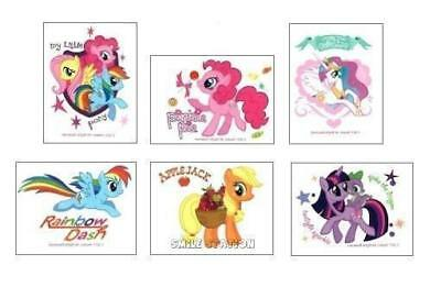 12 My Little Pony Temporary Tattoos Kid Party Goody Loot Bag Filler Favor Supply - My Little Pony Party