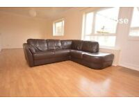 FAUX LEATHER CORNER SOFA - QUICK SALE REQUIRED - £175 ono - COLLECTION ONLY!!!