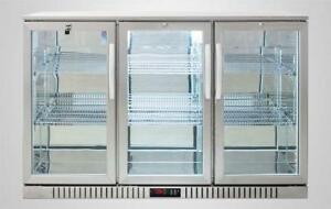 Back Bar Beer Fridge STAINLESS STEEL / BLACK / BEVERAGE COOLERS (5 YEAR WARRANTY ON COMPRESSOR = REAL QUALITY)