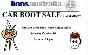 Hadspen Lions Car Boot Sale and Market Hadspen Meander Valley Preview
