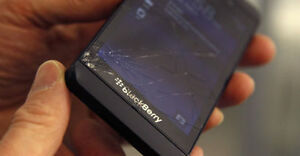 BlackBerry Z10 screen replacements Black / White  -$69 installed