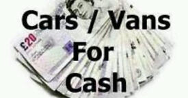 BEST PRICE PAID FOR CARS & VANS UP TO £2000
