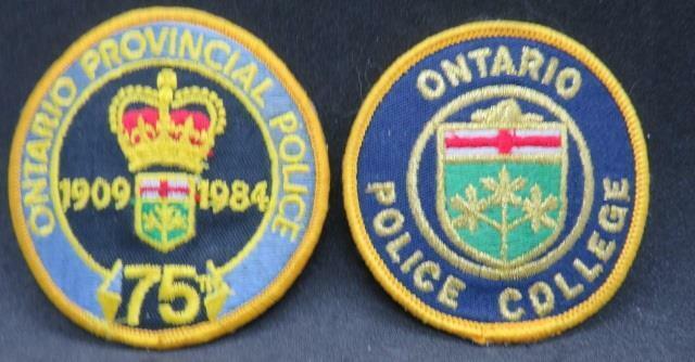 OBSOLETE Ontario Provincial Police 75th & Ontario Police College Jacket Crests