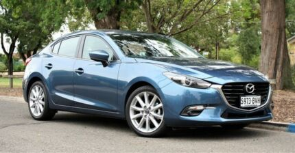 2017 Mazda 3 BN5238 SP25 SKYACTIV-Drive GT Blue 6 Speed Sports Automatic Sedan Edwardstown Marion Area Preview