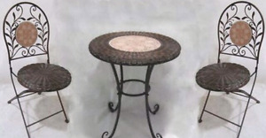ISO Small Round Outdoor Bistro Table Set for my wedding