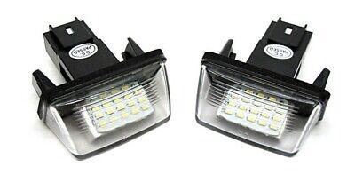 Luces De Matrícula LED para Citroen C3 C4 C5 Berlingo Saxo Xsara
