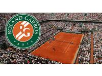 FRENCH OPEN ROLAND GARROS TENNIS QUARTER FINAL TICKET - 6TH JUNE 2018