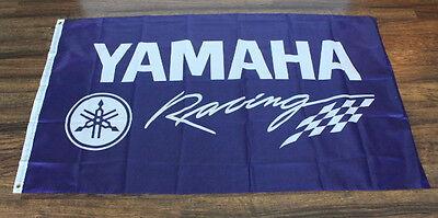 Yamaha Factory Racing Team Flag Garage Sign Banner Motorcycle Bike Moto GP New