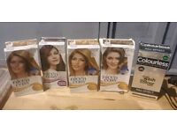5 x new hair dyes hairdressing or home New