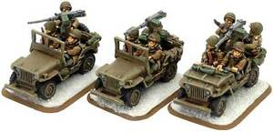 Flames of War USA BNIB American Jeeps (Winter) US408