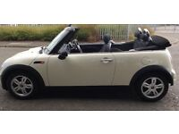 Beautiful white Mini Convertible 57 plate immaculate condition