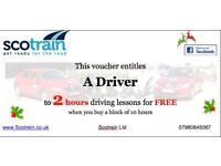 🎄 🎄2 Free Hours Driving Lessons when you buy a block of 10 hours for £290!! 🎉