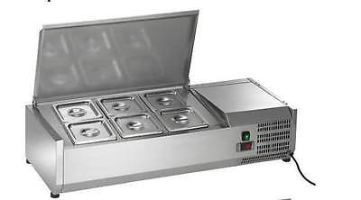 Arctic Air Acp40 6-pan 40 Counter-top Refrigerated Prep Station Topping Rail