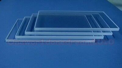 5x Double Side Polished Jgs1 Fused Silica Quartz Glass Sheets Plate 30x 30 X 1mm