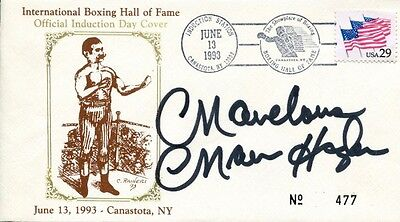 Marvelous Marvin Hagler Autographed 1st Day Cover