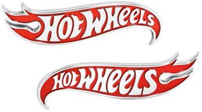 2pcs OEM Camaro Hot Wheels Edition Wheel Deck Lid Emblems Badge Hotwheels Red