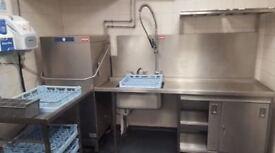 hobart amxx-1300 passthrough dishwasher stainless
