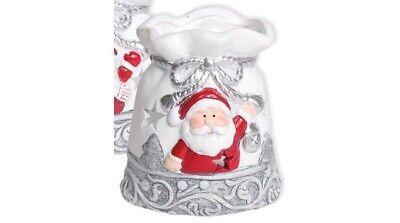 """rot für 1 Teelicht Ø 10cm NEU Teelicht Kerzenhalter Leuchter /""""Weihnachtsmann/"""""""