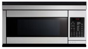 "Brand new never used 30""Fisher & Paykel over the range microwave"