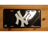 New York yankees license plate enamel sign baseball memorabilia official £10