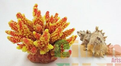 Aquarium Fish Tank Silicone Sea Anemone Artificial Coral Ornament SH 095Y+P