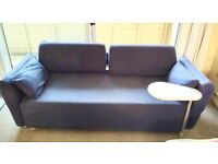 IKEA Mysig 2 or 3 seater sofa bed with Grey washable/Removable Cotton covers, very good condition