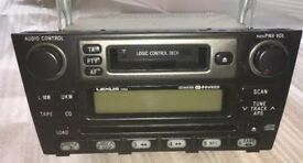Lexus is200 cd radio cassette player 6 cd changer working 98-05 breaking spares can post is 200