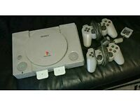 Playstation 1 and 40 odd games (no cables)
