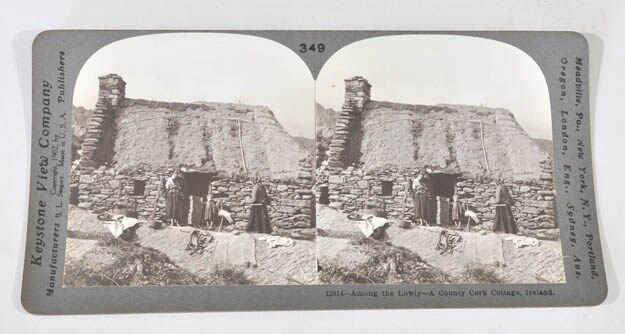 Prime Details About Irish Cottage Among The Lowly County Cork Ireland Antique Keystone Stereoview Interior Design Ideas Gentotryabchikinfo