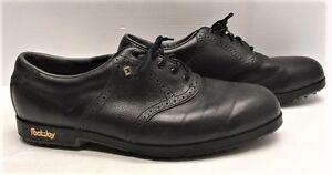 Souliers de golf en cuir noir pour homme grandeur 13 à vendre