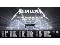 Metallica tickets for O2 London - 2 x great seats in Level 1 Block 117 - 22nd October