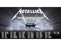2 x Metallica Tickets WorldWired Tour Manchester 28th Oct 2017