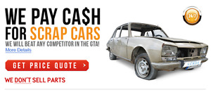 We buy cars for scrap-junk-recycle 819 209 0415