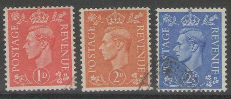 GB SG486a/9a 1942 LIGHTER COLOURS WMK SIDEWAYS FINE USED