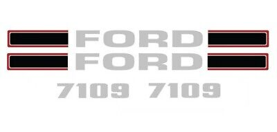 Ford Tractor Loader Decal Kit 7109 Graphics Stickers Set Emblem Lk