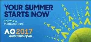 2 X TICKETS Australian Open Tennis Womens Final Hamilton Brisbane North East Preview