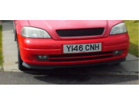 Vauxhall Astra g sri mk4 front bumper with with fog lights