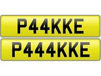 PAKISTAN private number plates cherished personalised reg - P44KKE & P444KKE
