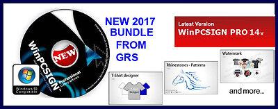 New Winpcsign Pro 14 Vinyl Cutting Plotter Software Rhinestone Special Bundle