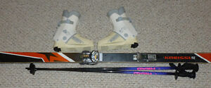 Woman's skis and boots Prince George British Columbia image 1