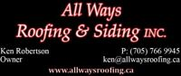 ALL WAYS ROOFING & SIDING INC. NEEDS ROOFERS