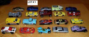Plusieurs lots de petites voitures en métal