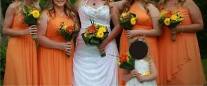 Maggie Sorreto Wedding Dresss and Davids Bridal Bridesmaid Dress
