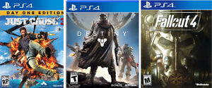 FALLOUT 4, JUST CAUSE 3 DESTINY PS4
