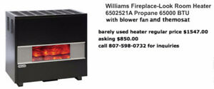 William Fireplace - Look Propane Heater 65,000 BTU