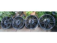 "19"" Audi RS4 STYLE ALLOYS 5x100 PCD fit VW GOLF MK3 MK4 Polo Bora Seat Ibiza Leon Cupra VRS A3"