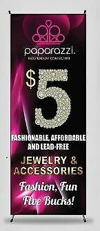 Paparazzi Jewelry Trade Show Banner - Full Color Printed Vinyl Banner No Stand