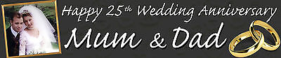 Personalised Anniversary Banners (2 x Personalised Photo Banners Wedding)