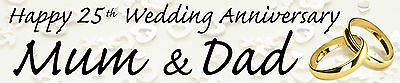 Personalised Anniversary Banners ( PERSONALISED WEDDING ANNIVERSARY BANNERS  PACK OF TWO)