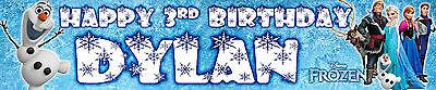 2 x FROZEN PERSONALISED BIRTHDAY BANNER  ()